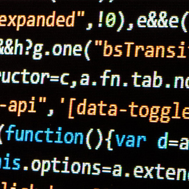 A generic picture of code on a monitor