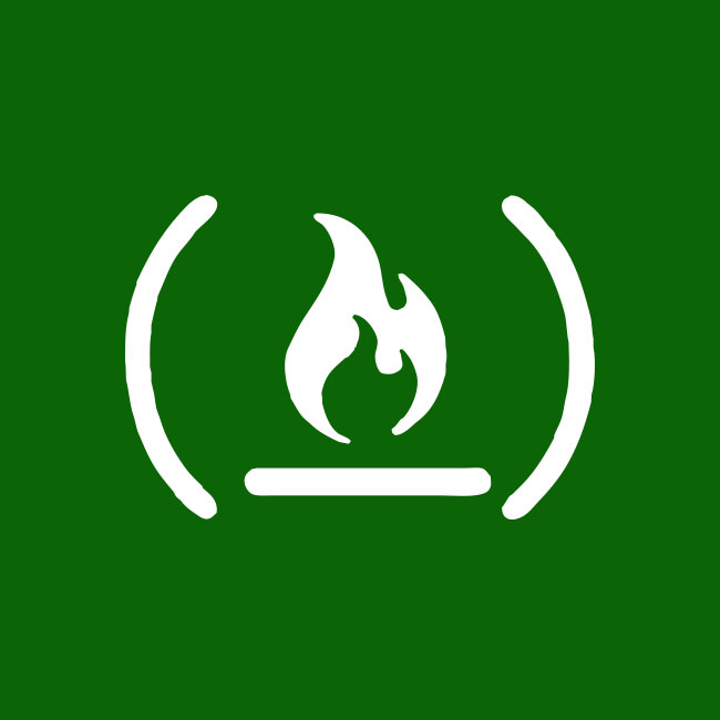 The freeCodeCamp logo on a green background