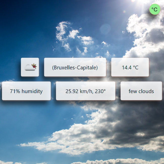 A photoshopped image showing the local weather app.